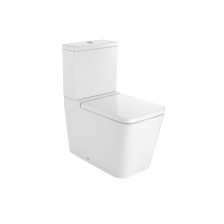 Roca Inspira Square Toaleta WC kompaktowa 37x64,5x79,4 cm odpływ podwójny, biała A342537000
