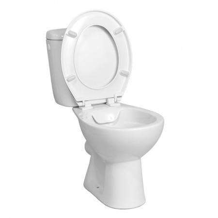 Roca Madalena Toaleta WC kompaktowa bez kołnierza + deska wolnoopadająca + spłuczka biała WM825MD3Z00RIP1