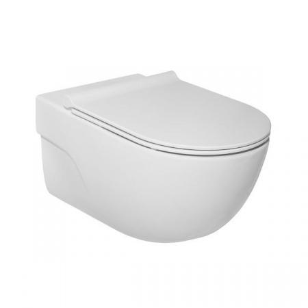Roca Meridian Toaleta WC podwieszana 56x36 cm Rimless bez kołnierza z powłoką MaxiClean, biała A34624L00M