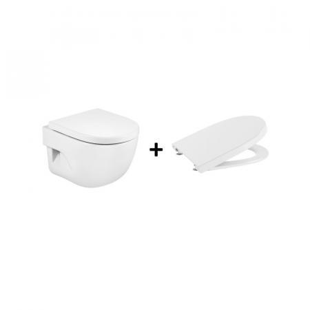 Roca Meridian Compacto Zestaw Toaleta WC 48x36 cm krótka + deska wolnoopadająca biała A346248000+A8012AC00B