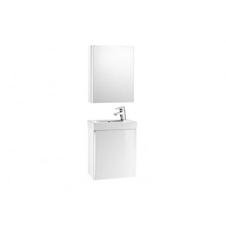 Roca Mini Zestaw łazienkowy 45x25x57,5 cm z lustrem, biały A855866806