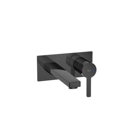 Roca Naia Black Bateria umywalkowa podtynkowa czarna A5A3596CN0