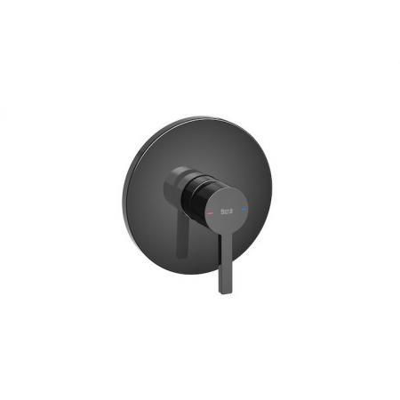 Roca Naia Black Bateria wannowo-prysznicowa podtynkowa czarna A5A2B96CN0