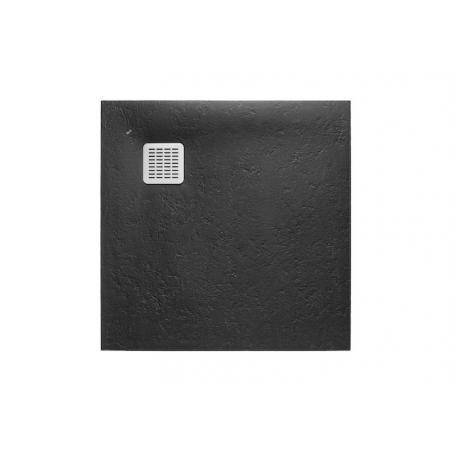Roca Terran Brodzik kwadratowy 100x100x2,8 cm kompozytowy czarny AP033E83E801400