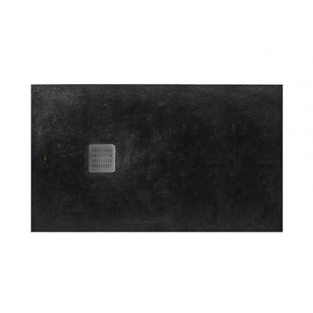 Roca Terran Brodzik prostokątny 180x100x3,1 cm kompozytowy czarny  AP017083E801400