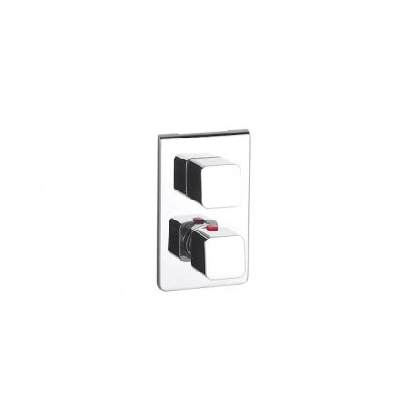 Roca Thesis-T Dwuuchwytowa bateria wannowo-prysznicowa podtynkowa termostatyczna, chrom A5A2950C00
