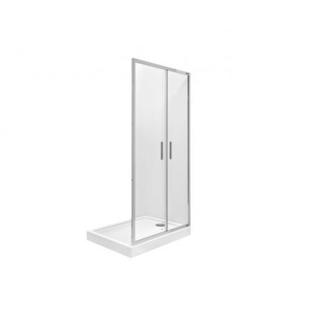 Roca Town Bifold Drzwi prysznicowe składane 80x195 cm profile chrom szkło przejrzyste MaxiClean AMP2408012M