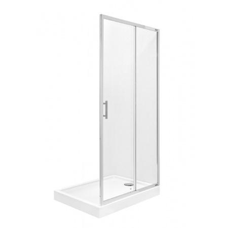 Roca Town Bifold Drzwi prysznicowe wnękowe 90x195 cm z powłoką MaxiClean, profile chrom szkło przezroczyste AMP1909012M