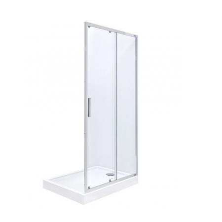 Roca Town-N Drzwi prysznicowe rozsuwane 140x195 cm profile chrom szkło przejrzyste MaxiClean AMP2814012M