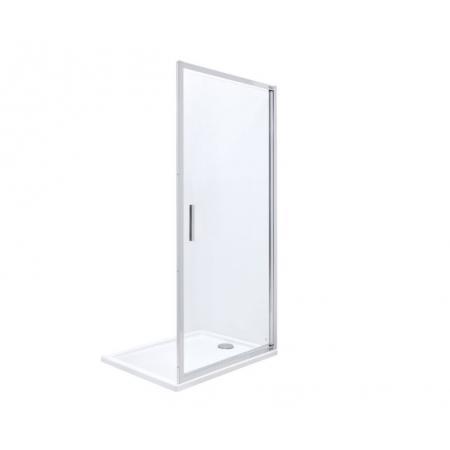Roca Town-N Drzwi prysznicowe uchylne 80x195 cm profile chrom szkło przejrzyste MaxiClean AMP2708012M