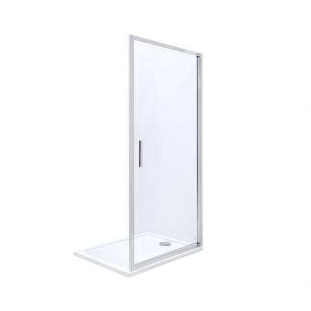 Roca Town-N Drzwi prysznicowe uchylne 90x195 cm profile chrom szkło przejrzyste MaxiClean AMP2709012M