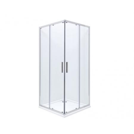 Roca Town-N Kabina prysznicowa kwadratowa 80x80x195 cm profile chrom szkło przejrzyste MaxiClean AMP2608012M
