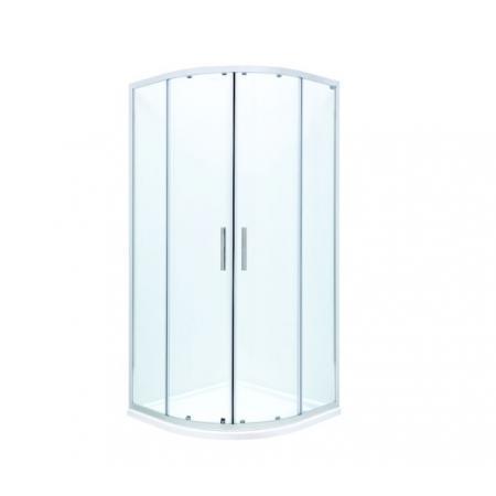 Roca Town-N Kabina prysznicowa półokrągła 80x80x195 cm profile chrom szkło przejrzyste MaxiClean AMP2508012M