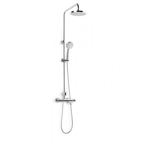 Roca Victoria-N-T Zestaw prysznicowy natynkowy z baterią termostatyczną i deszczownicą, chrom A5A2718C00