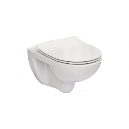 Roca Victoria Toaleta WC podwieszana 54x37 cm Rimless, z deską Slim wolnoopadającą Duroplast, biała A34H398000