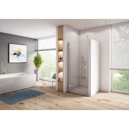 Ronal Sanswiss Annea AN1C Drzwi prysznicowe uchylne 100x200 cm prawe, profile srebrny połysk szkło przezroczyste Aquaperle AN1CD10005007