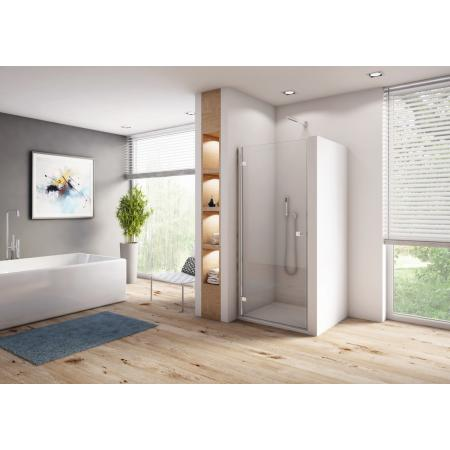Ronal Sanswiss Annea AN1C Drzwi prysznicowe uchylne 90x200 cm lewe, profile srebrny połysk szkło przezroczyste Aquaperle AN1CG09005007