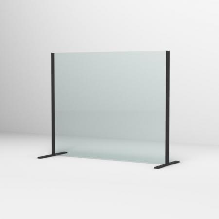 Ronal Sanswiss Ekran ochronny biurkowy 100x80 cm czarny mat SSTH1000800607