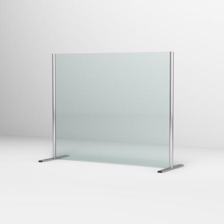 Ronal Sanswiss Ekran ochronny biurkowy 140x80 cm srebrny połysk SSTH1400805007