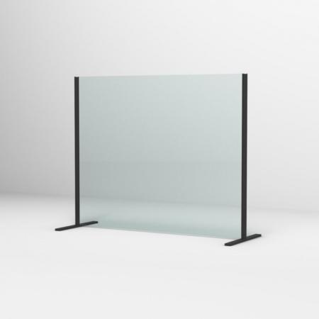 Ronal Sanswiss Ekran ochronny biurkowy 80x80 cm czarny mat SSTH0800800607