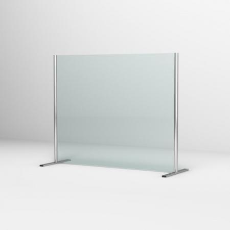 Ronal Sanswiss Ekran ochronny biurkowy 80x80 cm srebrny połysk SSTH0800805007