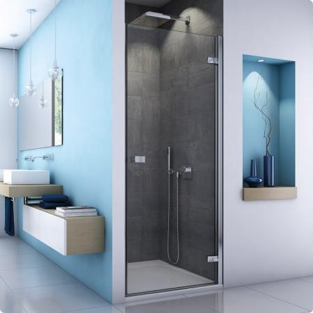 Ronal Sanswiss Escura Drzwi jednoczęściowe 90x200 cm lewe, profile połysk szkło przezroczyste ES1CG0905007