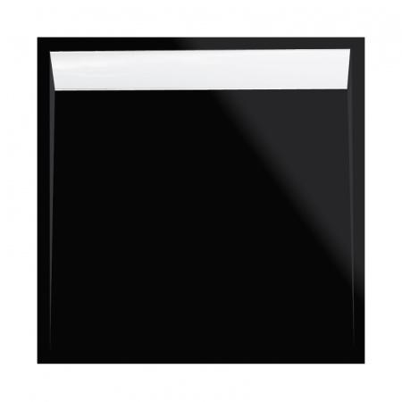 Ronal Sanswiss Ila Brodzik konglomeratowy kwadratowy 100x100 cm pokrywa biała, czarny granit WIQ10004154
