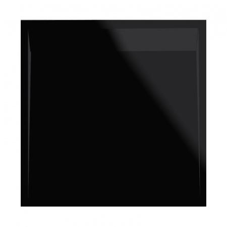 Ronal Sanswiss Ila Brodzik konglomeratowy kwadratowy 100x100 cm pokrywa czarny mat, czarny granit WIQ10006154