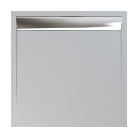 Ronal Sanswiss Ila Brodzik konglomeratowy kwadratowy 100x100 cm pokrywa połysk, biały WIQ1005004