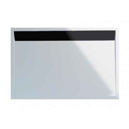 Ronal Sanswiss Ila Brodzik konglomeratowy prostokątny 80x100 cm pokrywa czarny mat, biały WIA801000604