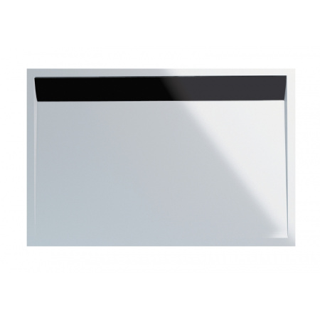 Ronal Sanswiss Ila Brodzik konglomeratowy prostokątny 80x120 cm pokrywa czarny mat, biały WIA801200604