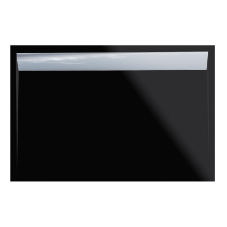Ronal Sanswiss Ila Brodzik konglomeratowy prostokątny 80x120 cm pokrywa połysk, czarny granit WIA8012050154