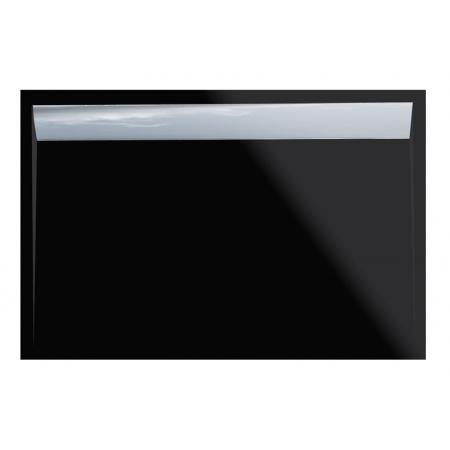 Ronal Sanswiss Ila Brodzik konglomeratowy prostokątny 90x100 cm pokrywa połysk, czarny granit WIA9010050154