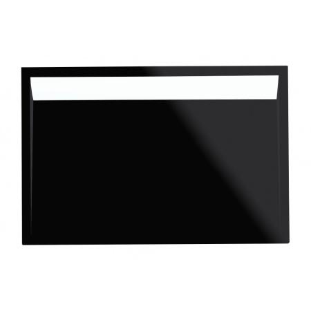 Ronal Sanswiss Ila Brodzik konglomeratowy prostokątny 80x90 cm pokrywa biała, czarny granit WIA8009004154