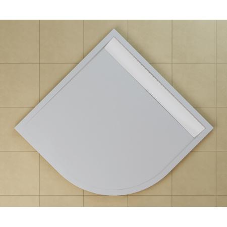 Ronal Sanswiss Ila Brodzik półokrągły 80x80 cm pokrywa biała, czarny granit WIR5508004154