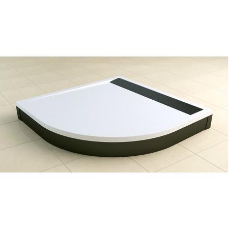 Ronal Sanswiss Ila Brodzik półokrągły 80x80 cm pokrywa czarny mat, biały WIR550800604