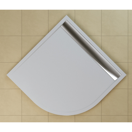 Ronal Sanswiss Ila Brodzik półokrągły 80x80 cm pokrywa połysk, biały WIR550805004