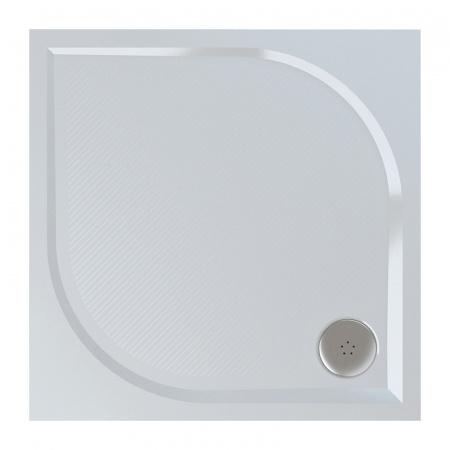 Ronal Sanswiss Marblemate Brodzik konglomeratowy kwadratowy 80x80 cm, biały WMQ080004