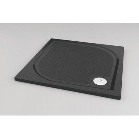 Ronal Sanswiss Marblemate Brodzik konglomeratowy kwadratowy 80x80 cm, czarny granit WMQ0800154