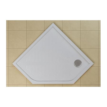 Ronal Sanswiss Marblemate Brodzik konglomeratowy pięciokątny 90x90 cm, biały WM5636090004