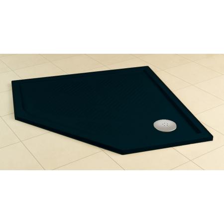 Ronal Sanswiss Marblemate Brodzik konglomeratowy pięciokątny 90x90 cm, czarny granit WM56360900154