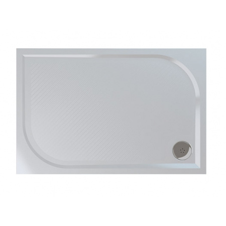 Ronal Sanswiss Marblemate Brodzik konglomeratowy prostokątny 80x120 cm, biały WMA8012004