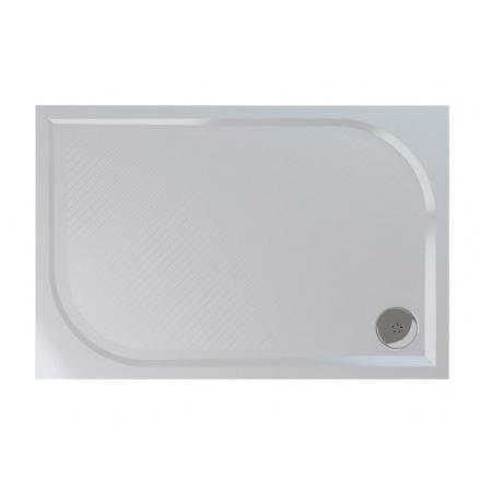 Ronal Sanswiss Marblemate Brodzik konglomeratowy prostokątny 80x140 cm, biały WMA8014004