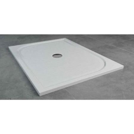 Ronal Sanswiss Marblemate Brodzik konglomeratowy prostokątny 90x120 cm, biały WMA9012004