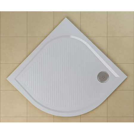 Ronal Sanswiss Marblemate Brodzik półokrągły 100x100 cm, biały WMR55100004