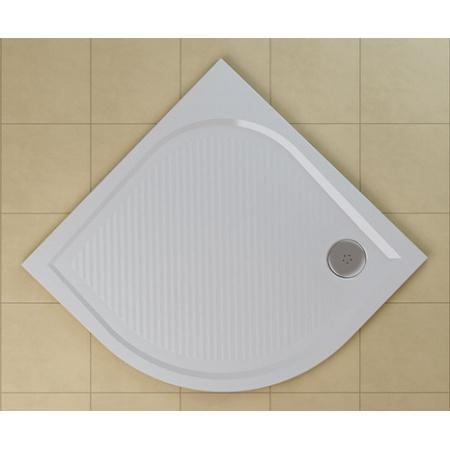 Ronal Sanswiss Marblemate Brodzik półokrągły 80x80 cm, biały WMR55080004