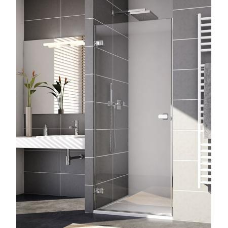 Ronal Sanswiss Melia Drzwi prysznicowe wahadłowe jednoczęściowe lewe, profile chrom ME1GSM11007