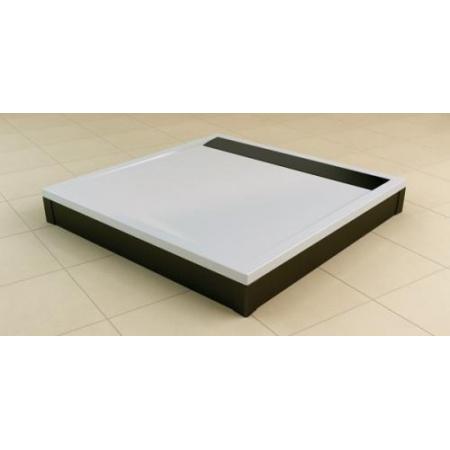 Ronal Sanswiss Obudowa brodzika kwadratowego 80x80 cm, czarny mat PWIL08008006