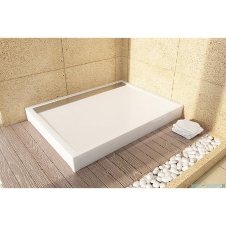 Ronal Sanswiss Obudowa brodzika prostokątnego 80x90 cm, biała PWIL08009004