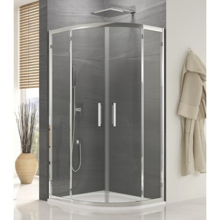 Ronal Sanswiss Ocelia OCER Kabina prysznicowa półokrągła 90x90x190 cm drzwi przesuwne, profile srebrny połysk szkło przezroczyste Aquaperle OCER550905007